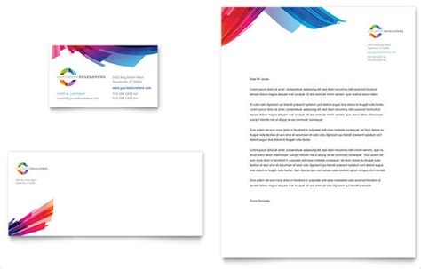 business card and stationery template 9 small business letterhead templates word psd vector