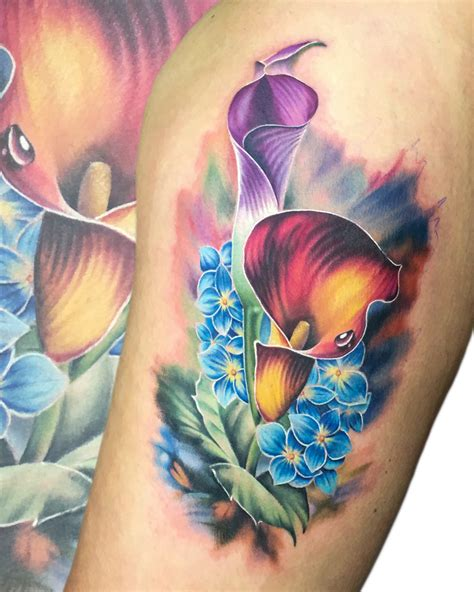 bombshell tattoo edmonton reviews liz venom an incredible artist with lots of flower power