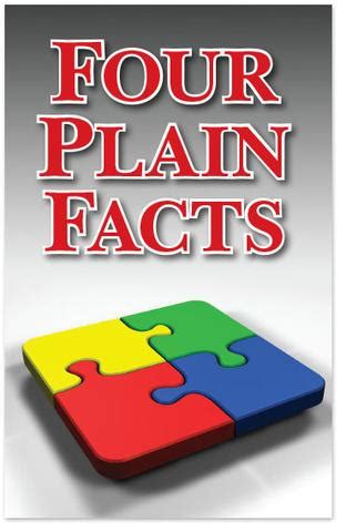 plain facts for and books gospel tract four plain facts moments with the book