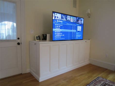 diy tv lift cabinet 9 cool diy tv stands and consoles to make shelterness