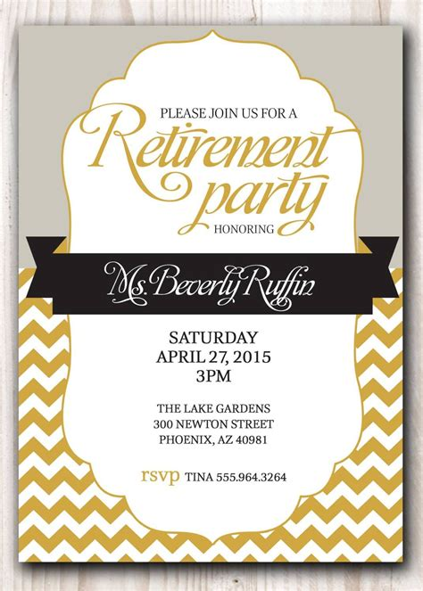 free retirement party template gse bookbinder co