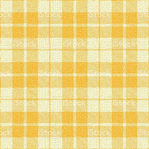 Upholstery Fabric Tartan Yellow Plaid Textured Fabric Vector Pattern Background