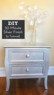 diy silver spray paint furniture finish painted