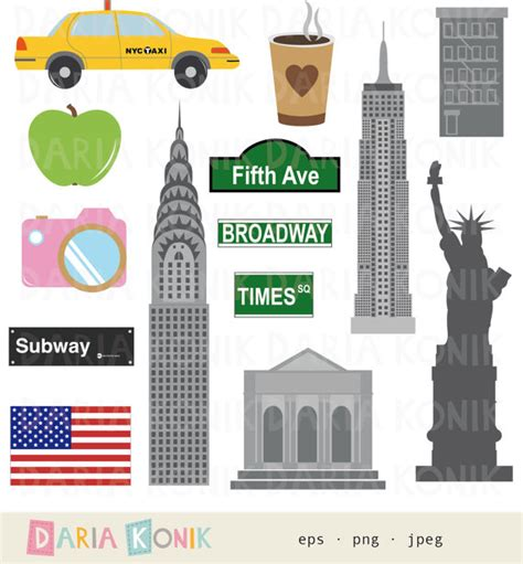 Reisya Set 3 White Srikandi new york clip set city clipart america usa travel