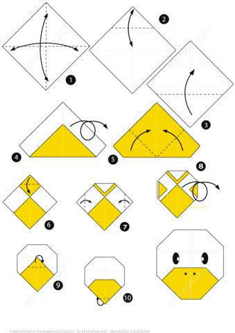 How To Fold A Paper Duck - how to make an origami duck step by step