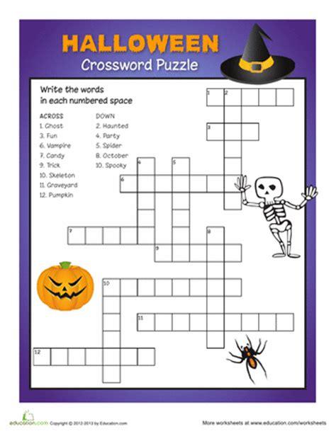 printable word games for grade 6 halloween printable 3rd grade crossword puzzles festival