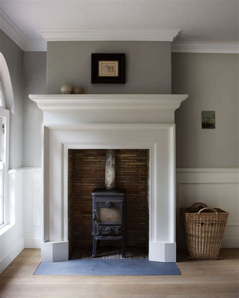 How High Is A Fireplace Mantel by Fireplace Living Room Grey Walls Stove