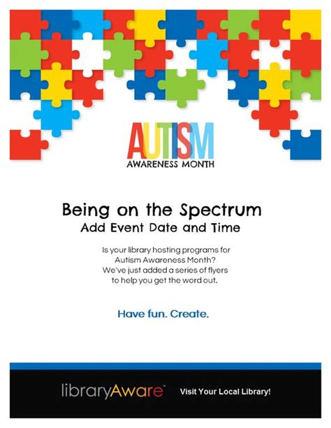 Autism Flyer Template april is autism awareness month libraryaware can help
