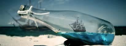 couverture bateau dans une bouteille