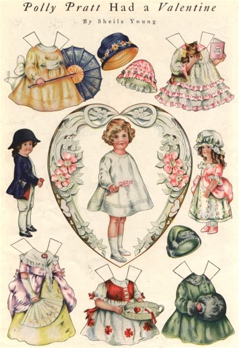 printable vintage paper dolls inkspired musings home run to valentine s day