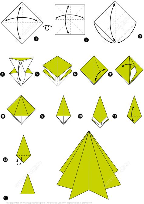 images of origami christmas tree 3d step by step best