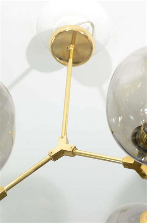 Branch Light Fixture 6 Globe Brass Branch Fixture For Sale At 1stdibs