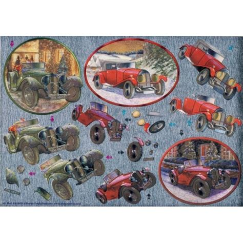 Decoupage Car - dufex 3d decoupage sheet vintage cars