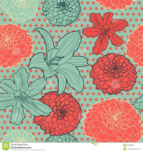 japanese pattern vintage seamless vintage japanese pattern with lilys stock vector