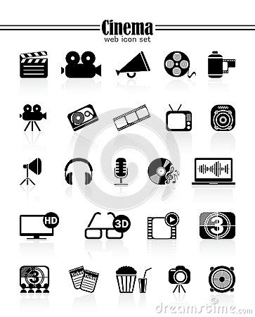 Icon Cinema Gift Card - icons cinema stock vector image 47395194