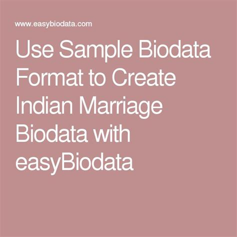 Bio Data Sle For by Best 25 Biodata Format Ideas On Biodata