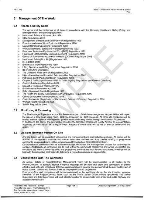 Professional Results Hbxl Professional Services Construction Phase Plan Template