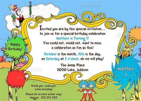 printable lorax invitations 88 best lorax party images on pinterest birthdays dr