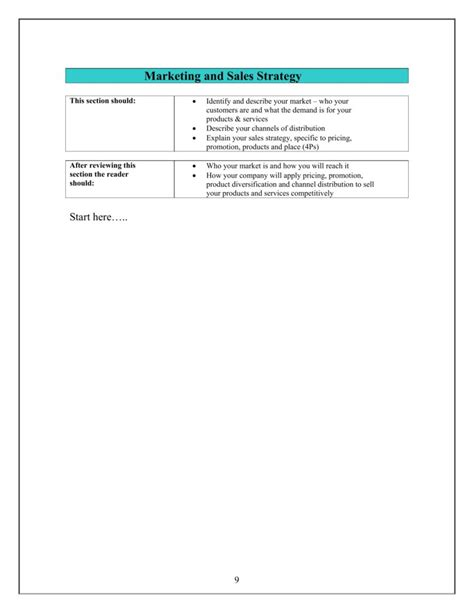 sales strategies template sle personal statement for resume