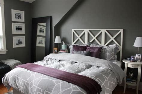 purple and grey bedroom decor bedroom decorating ideas using gray home pleasant