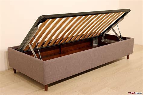 letto contenitore senza testiera letto con contenitore singolo senza testata anche su misura