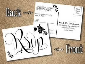 rsvp postcard template free items similar to diy wedding rsvp postcard word template