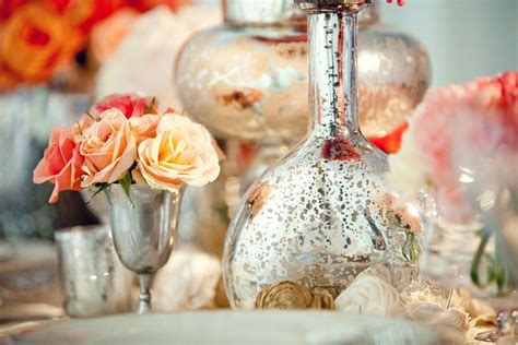anthropologie inspired wedding reception decor with