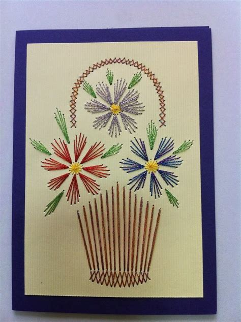 Stitching Cards Templates by 1000 Ideas About Paper Piercing Patterns On