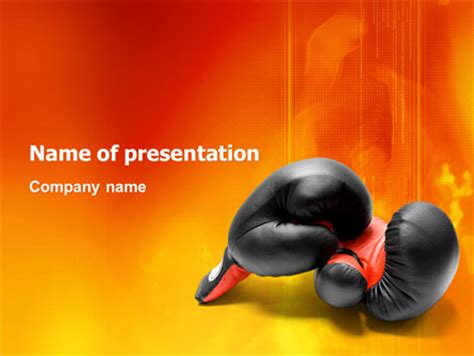 Boxing Gloves Presentation Template For Powerpoint And Keynote Ppt Star Boxing Templates Free