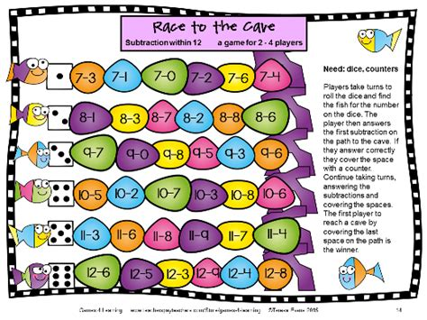 printable numeracy board games fun games 4 learning math games makeover