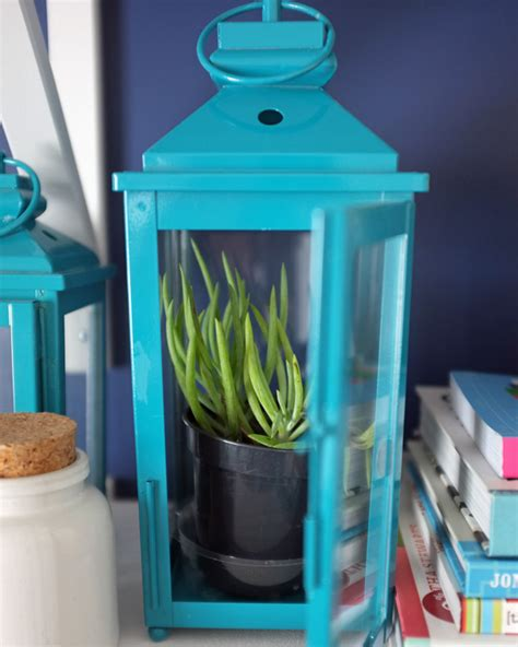 Lantern Planter by How To Add More Dimension To Your Decor Teal And Lime By
