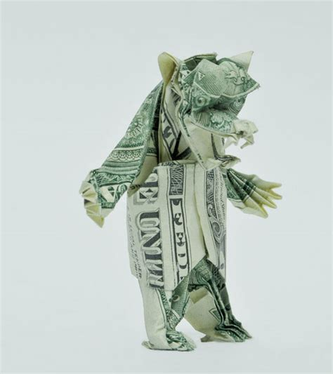 dollar origami 20 cool exles of dollar bill origami bored panda