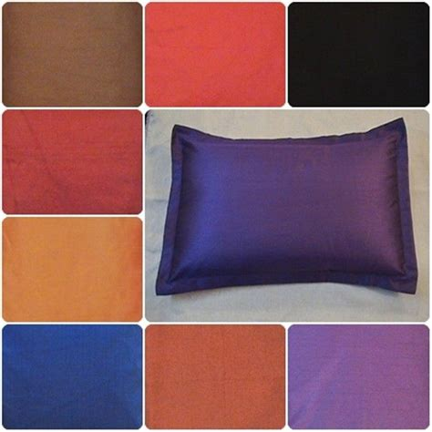 standard bed pillow size bed pillow case queen standard king size covers polyester dupioni silk ebay