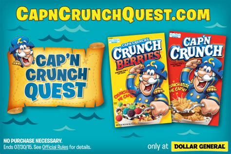 My Opinions Instant Win - cap n crunch quest instant win sweepstakes