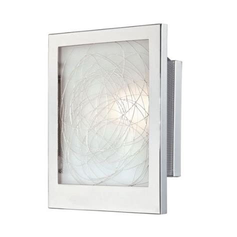 Ada Wall Sconce Ada Wall Sconce In Chrome Finish With Rectangle Shade Ls 16949 Destination Lighting