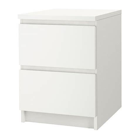 comodini malm malm 2 drawer chest white