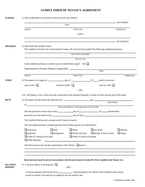 uk rental agreement template tenancy agreement sle doc