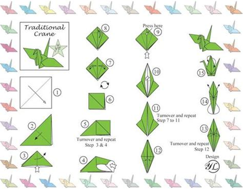 Printable Origami Crane - pine road library jammies for japan