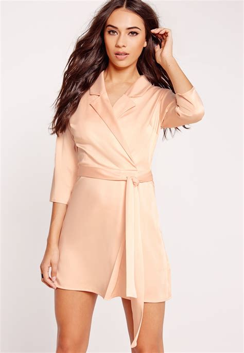 Simple Yet Style Of Dress simple yet chic this silky wrap blazer dress in on point