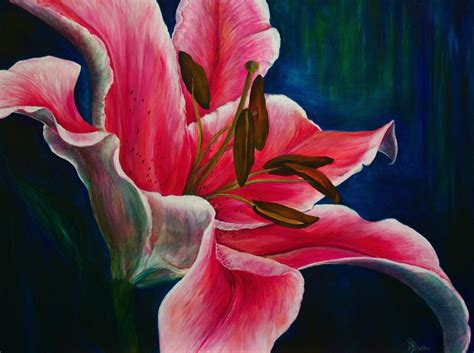 "Painting : ""Embrace the Day/Lily   Private Collection"" (Original art by Debra Bucci Fine Art)"