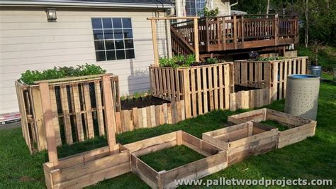 pallet raised garden bed pallet raised garden beds pallet wood projects
