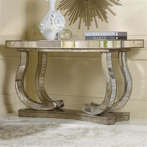 mirror console table furniture melange antique mirror console table