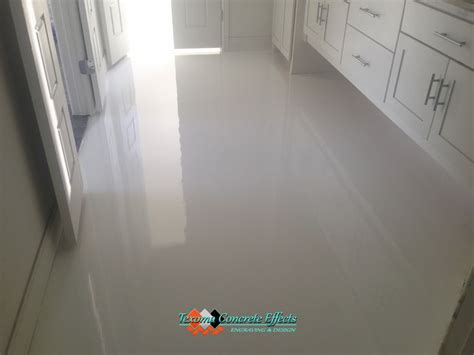 Which Floor Or What Floor - white epoxy floor bathroom by texoma concrete effects