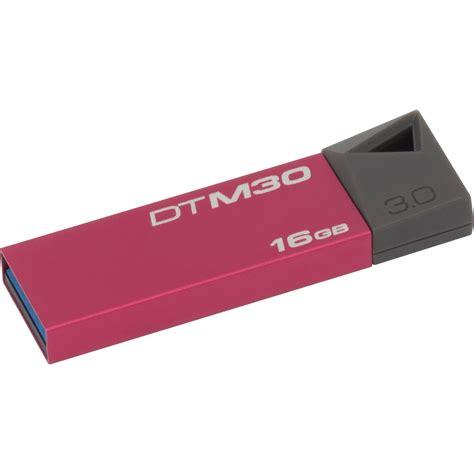 Usb Flashdisk 16gb Kingston kingston 16gb datatraveler mini usb 3 0 flash drive dtm30 16gb