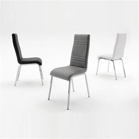 Black Leather And Chrome Dining Chairs Black Faux Leather And Chrome Dining Chairs And Lolesinmo