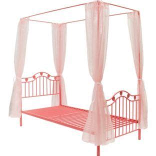 argos pink bedroom furniture buy pink hearts metal 4 poster single bed frame at argos