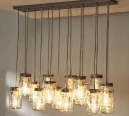 Hanging Lights In Kitchen Simple Rustic Kitchen Lighting Ideas With Hanging From Ceiling Glass Jar Candle Holder