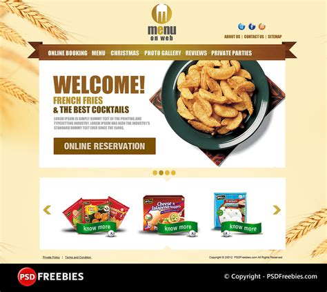 Restaurant Menu Psd Template Free restaurant menu free psd template psdfreebies