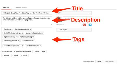 youtube description template how to write best