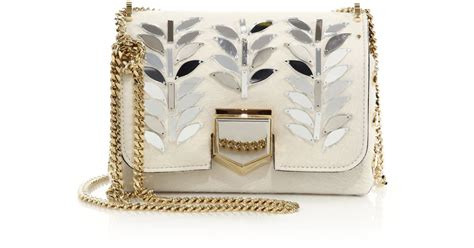 Jimmy Choo Metallic Calfskin Handbag by Jimmy Choo Lockett Embellished Calf Hair Crossbody Bag In